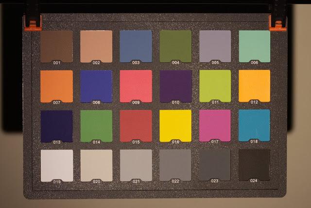 Karta kolorów oświetlona latarką Lumintop IYP365