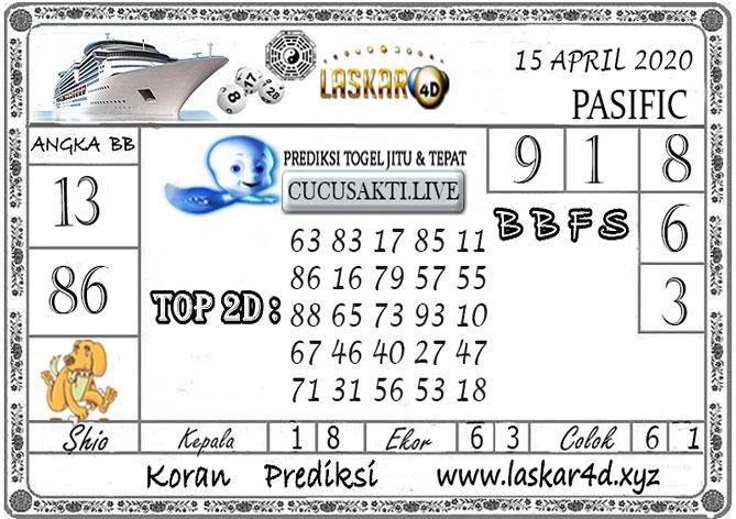 Prediksi Togel PASIFIC LASKAR4D 15 APRIL 2020
