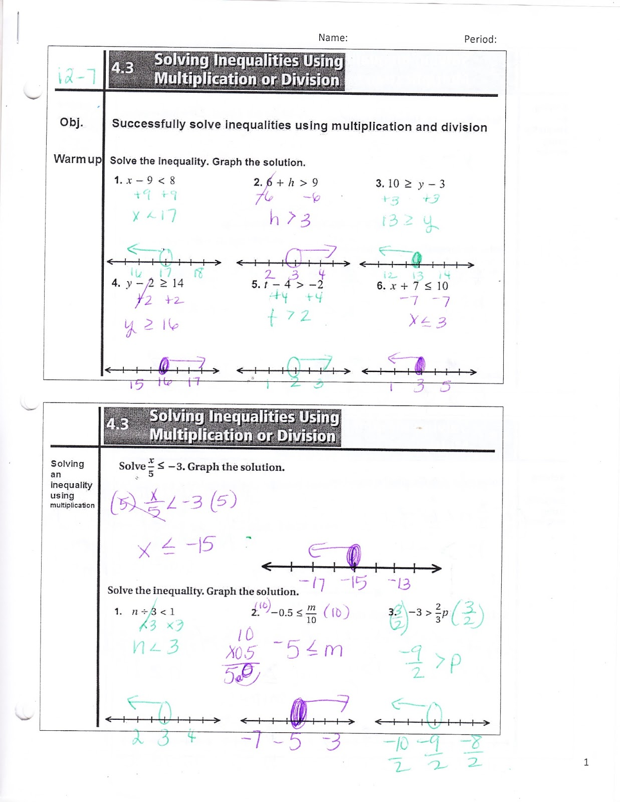 Ms Jean S Classroom Blog 4 3 Solving Inequalities Using Multiplication And Or Division