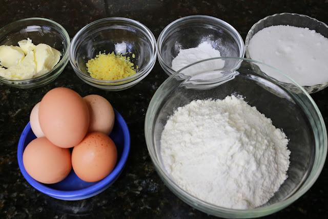 Ingredientes para bizcocho esponjoso tradicional