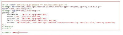 Как правильно вставить код скрипта в шаблон. Найти закрывающий тэг head
