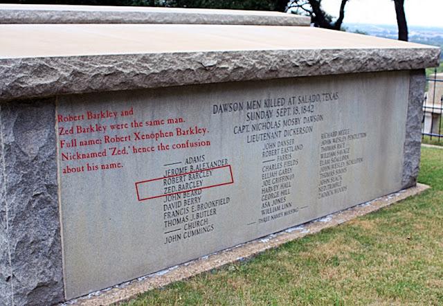 Robert Zed Barkely Tomb