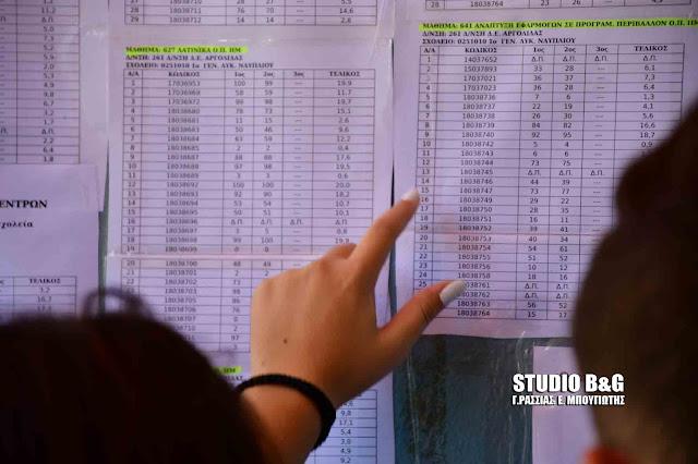 Αναρτήθηκαν και στα σχολεία της Αργολίδας τα αποτελέσματα των Πανελληνίων 2020