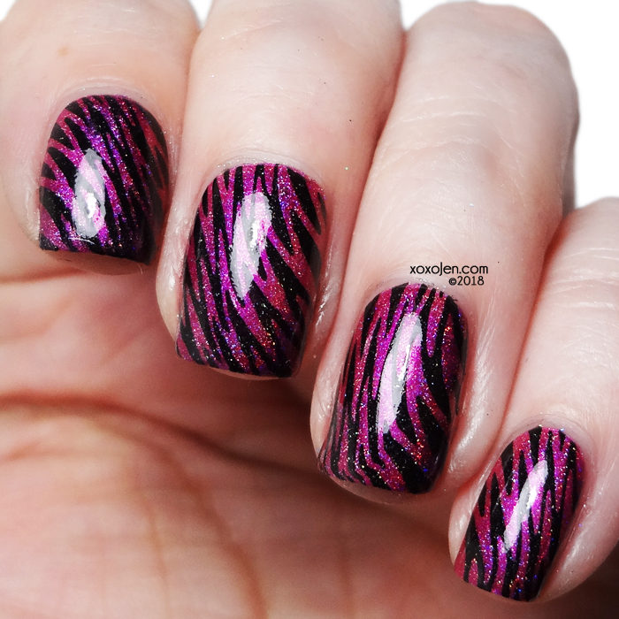 xoxoJen's swatch of Leesha's Lacquer Flamingo Floaty