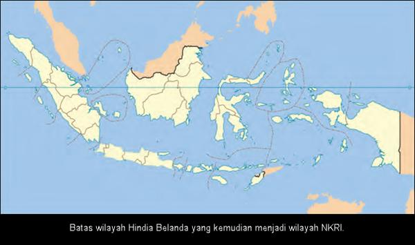 Batas wilayah Hindia Belanda yang kemudian menjadi wilayah NKRI.