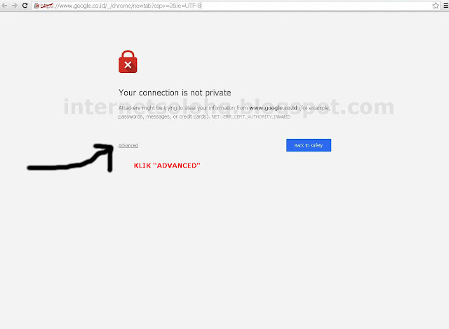 Cara Mengatasi Your Connection Is Not Private Pada Google Chrome