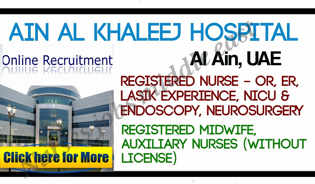 Nurses Jobs-Middle East: Ain Al khaleej hospital direct ...