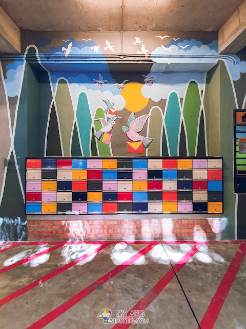 Most Instagrammable spot in Kuala Lumpur The LINC KL Mall with colorful mural arts