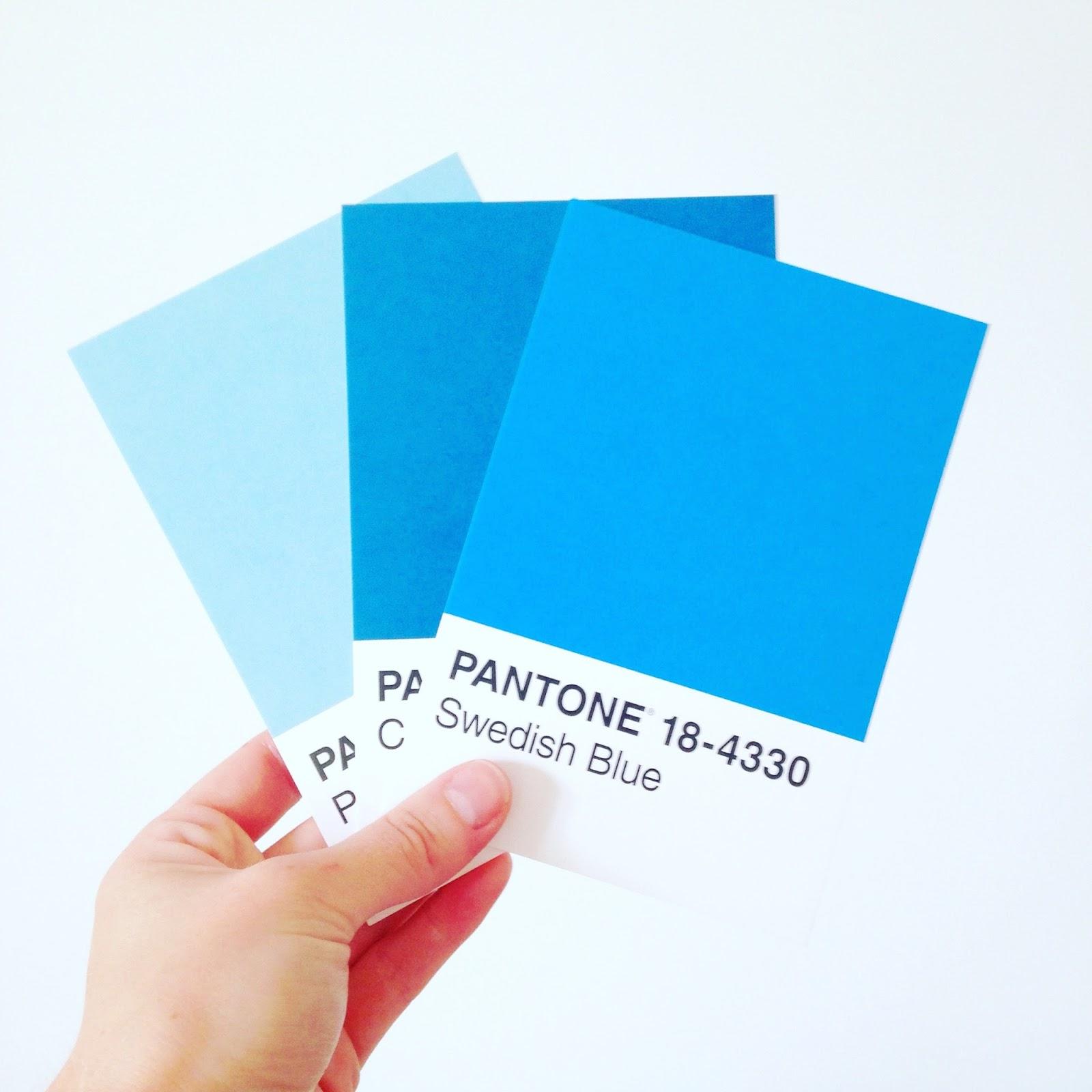 Blue Pantone Cards