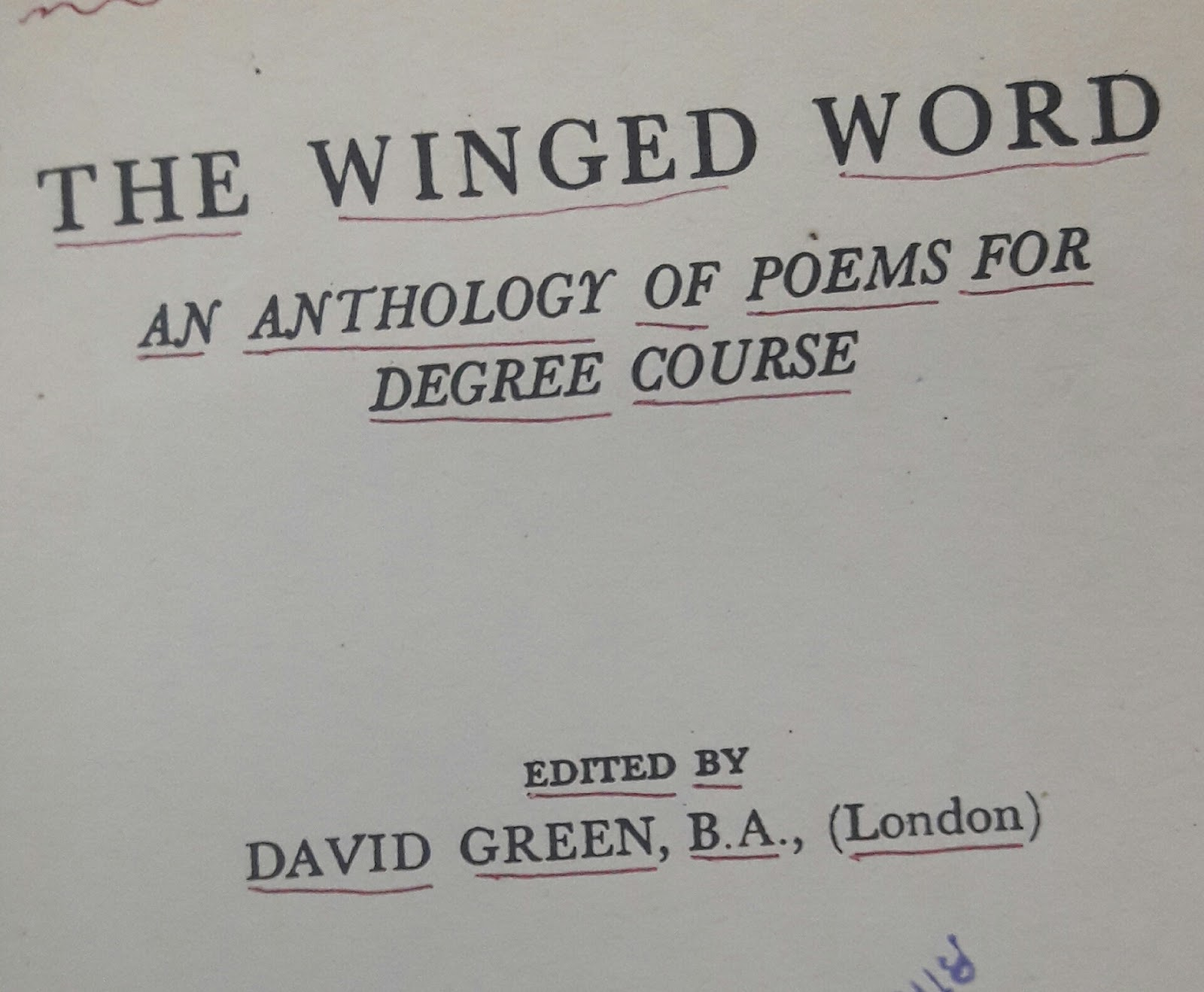 vaidehi hariyani the winged word david green referring to this book after a long time span gives me a immense joy