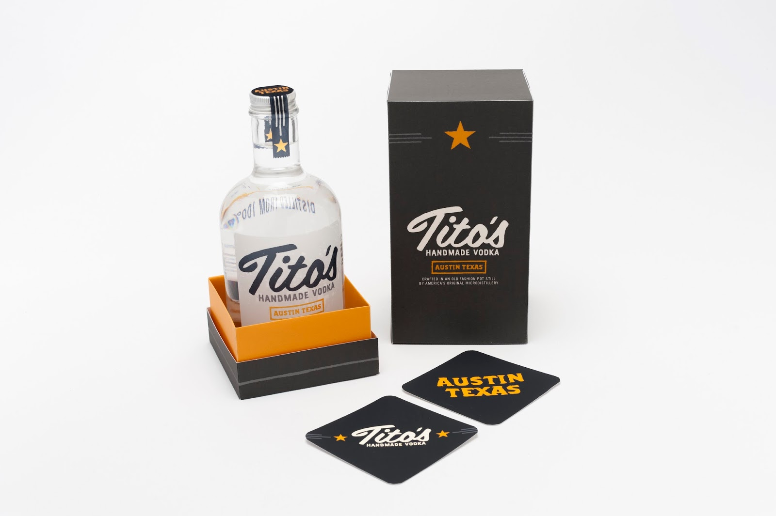 Tito's Handmade Vodka (Student Project) On Packaging Of