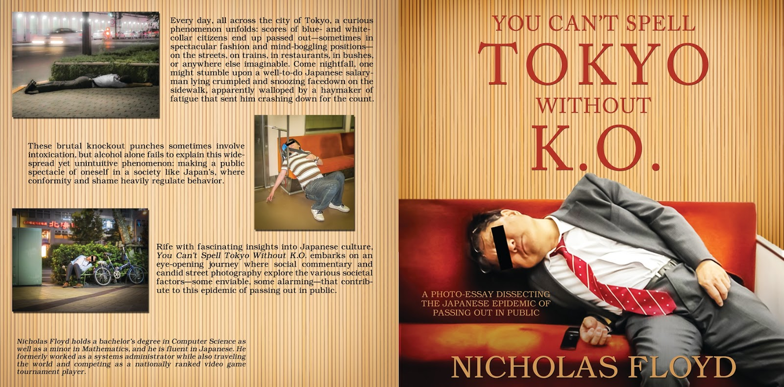 new cover design you can t spell tokyo out k o  please join me in congratulating nicholas floyd on the publication of his second nonfiction book you can t spell tokyo out k o a photo essay