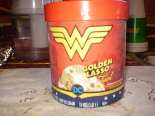 Front of Eddy's Wonder Woman Golden Lasso Twirl Ice Cream #2