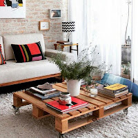 mesa ratona para living comedor con palets de madera