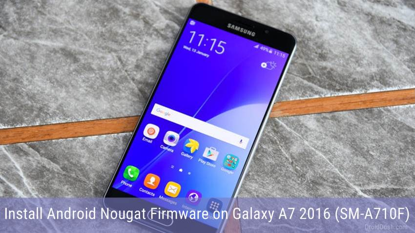Android Nougat on Galaxy A7 2016 SM-A710F