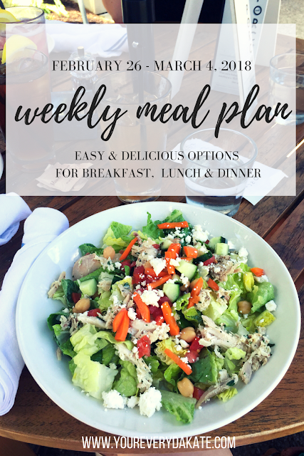Meal Plan Easy Weekly Dinner Plan