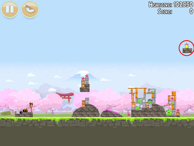 Angry Birds Seasons: Cherry Blossom - Golden Eggs - 1-15