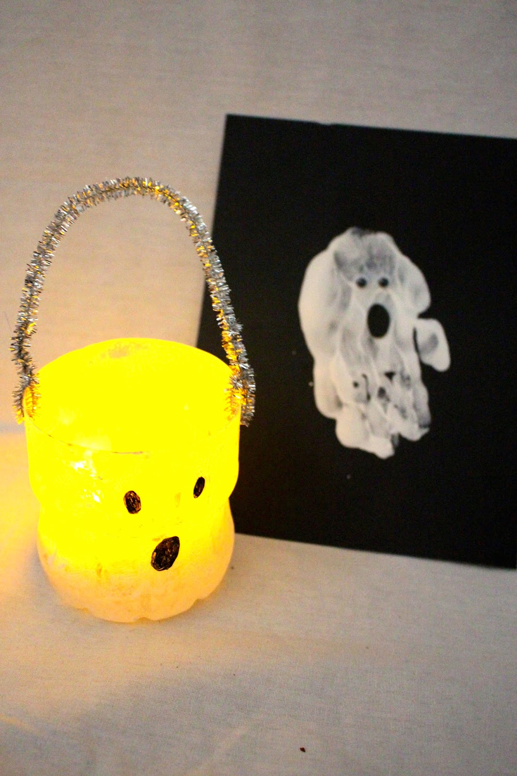 ghost handprint craft for kids: halloween