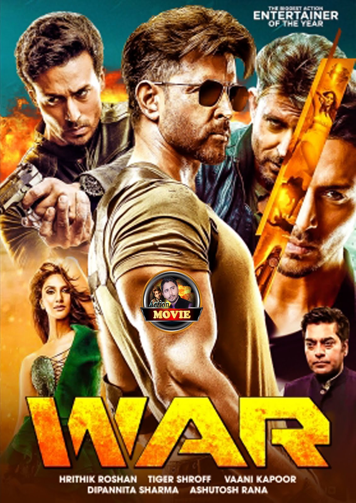 War 2019 full Hindi 720p Pre-DVDRip 600MB HEVC x265