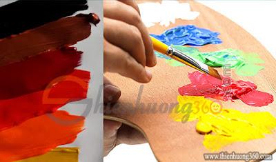 Màu Acrylic 5D có màu sắc cực đẹp, bền, mịn và độ bám dính cực cao