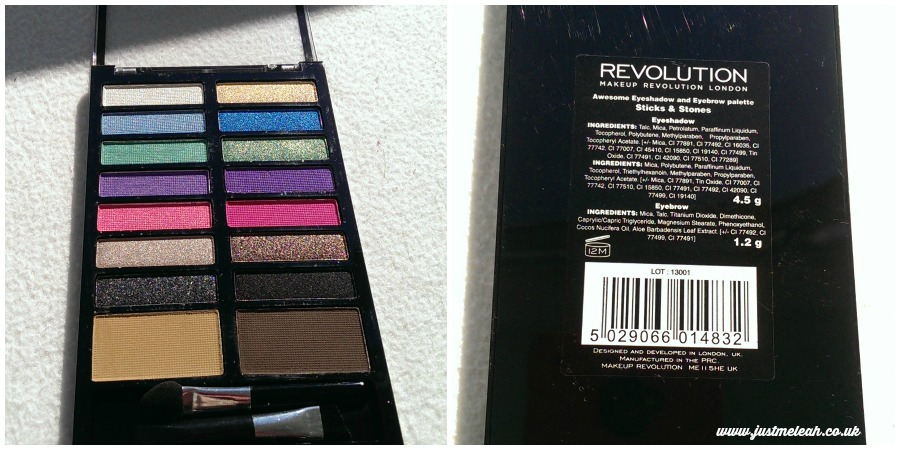 Makeup Revolution Sticks and Stones eyeshadow and brow palette