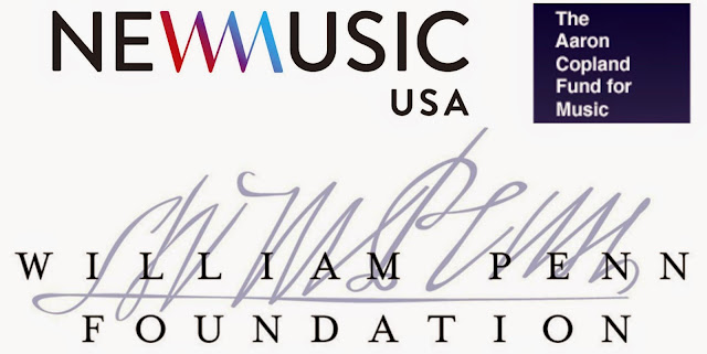 photo of Turbine funders: New Music USA, The Aaron Copland Fund for Music, and William Penn Foundation
