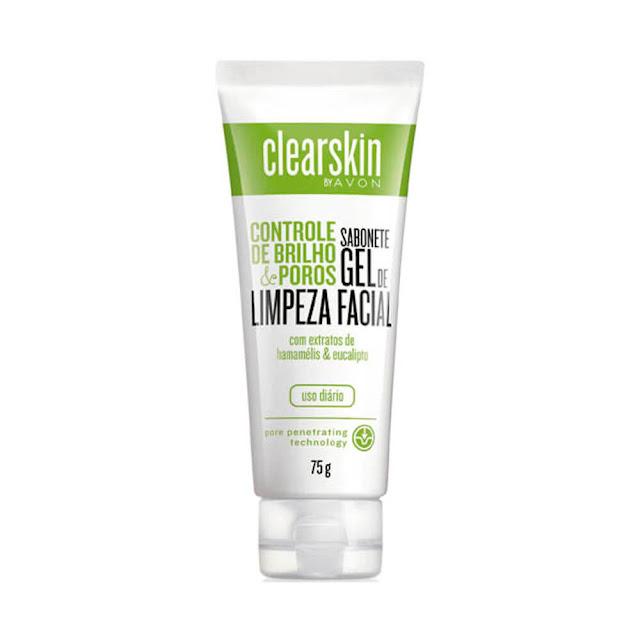 Sabonete gel de limpeza facial avon