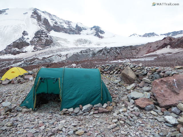 The second camp before night, Kazbek, www.MATTrail.com