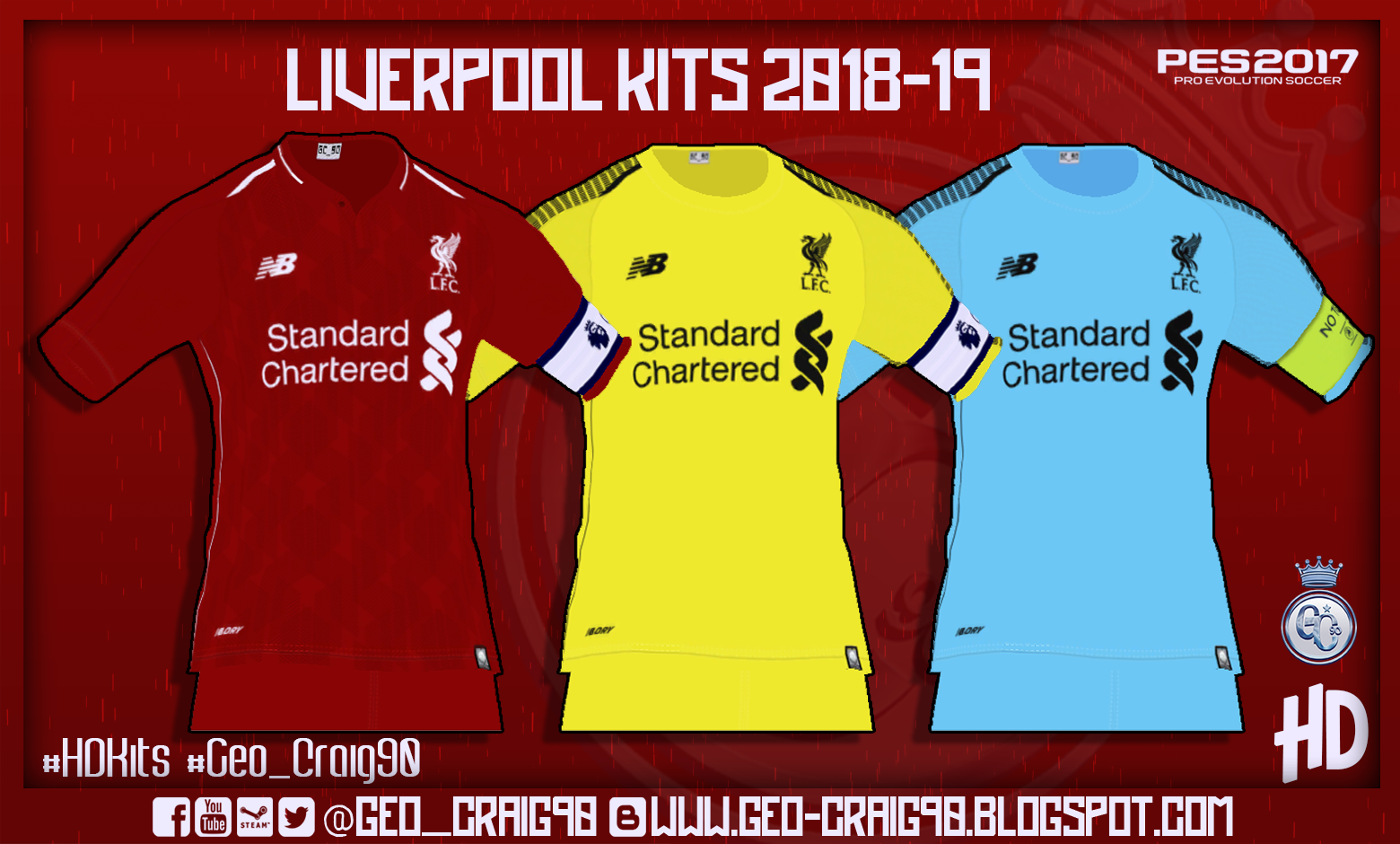 PES 2017 Liverpool Kits 2018-19 Beta by Geo-Craig90