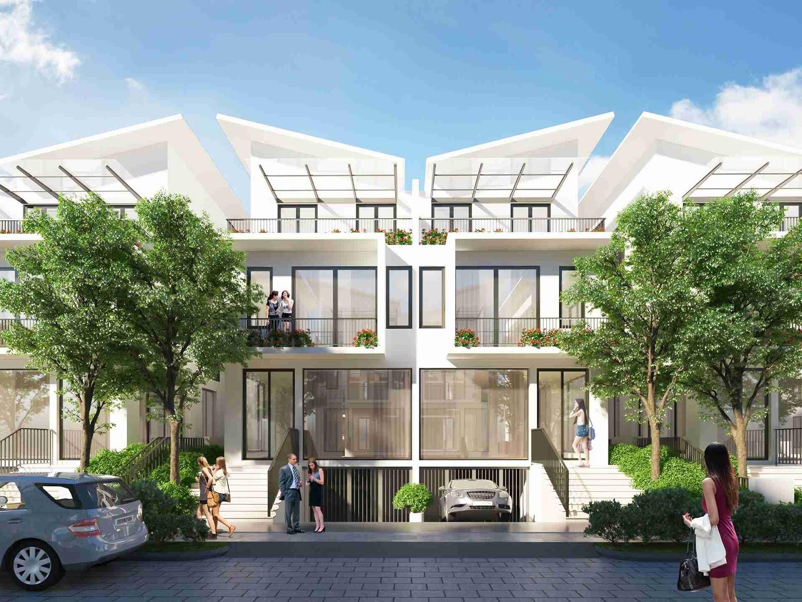 Mẫu thiết kế biệt thự Song Lập tại Khai Sơn City