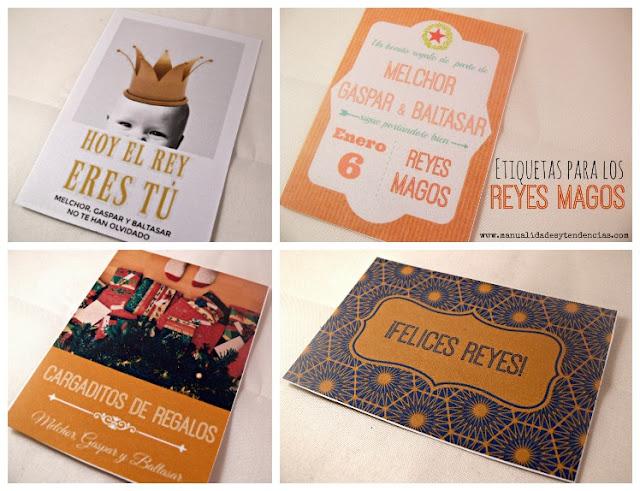 Etiquetas de regalo imprimibles para Reyes Magos