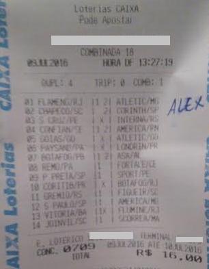LOTECA 709 - 13 PONTOS DO ALEX LIMA