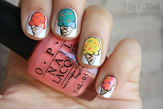 Mouth Watering Ice Cream Nail Art That Is Perfect For Summer