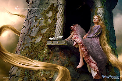Taylor Swift as Rapunzel from Tangled, taken by Annie Leibovitz