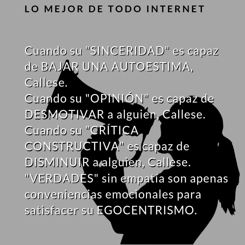Lo Mejor De Todo Internet Cuando Su Sinceridad Es Capaz