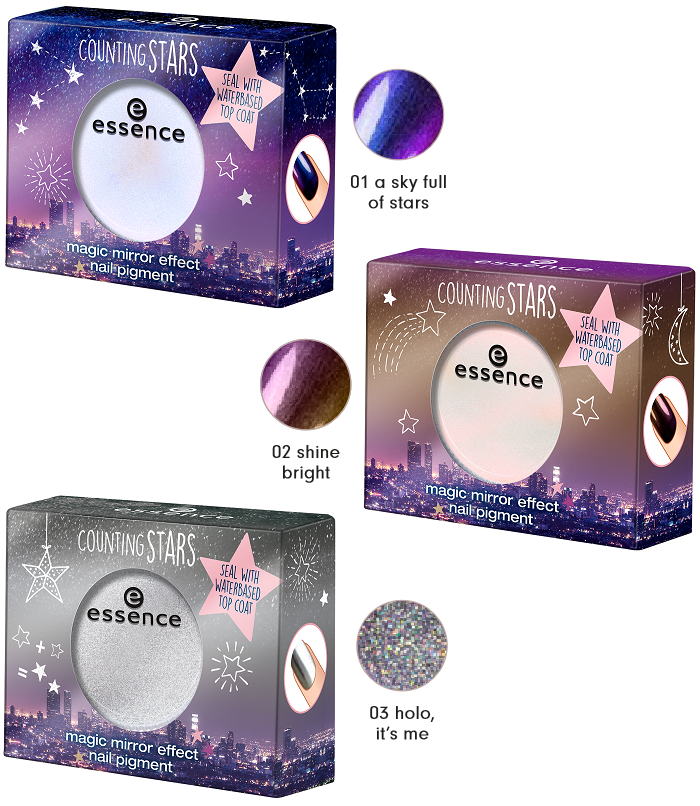 essence counting stars magic mirror effect nail pigment