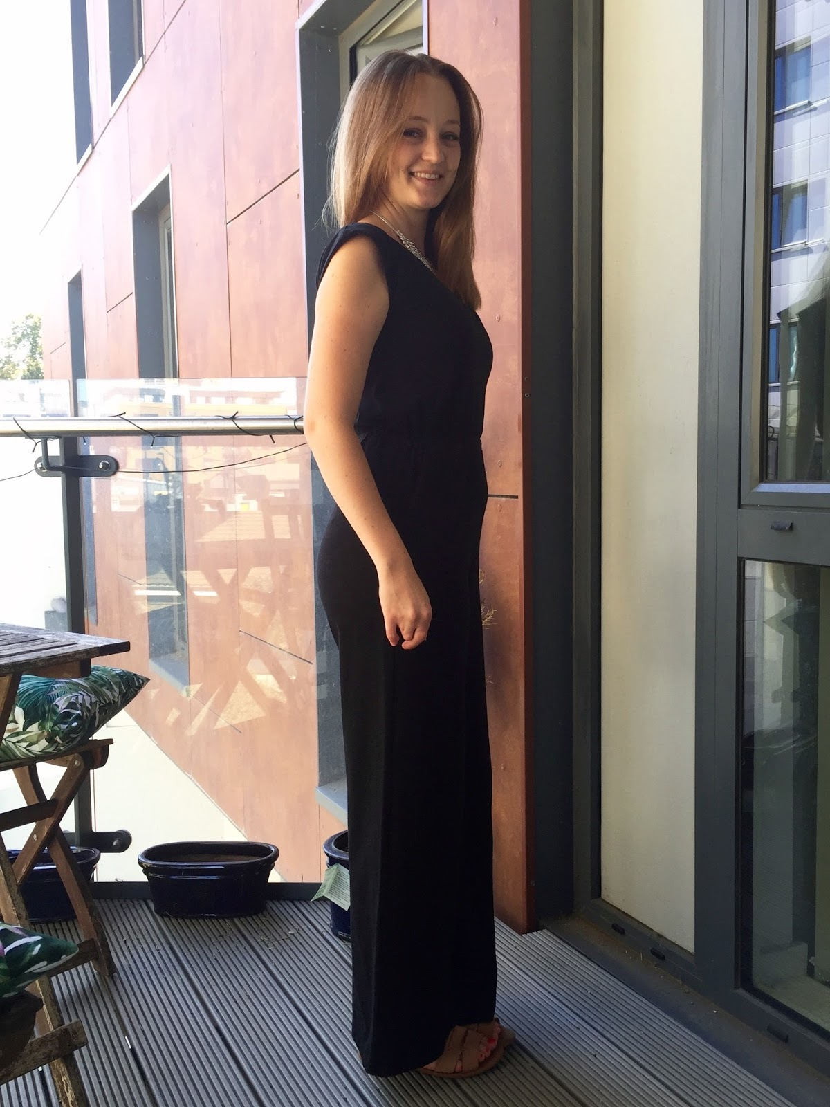 d8082d4b44f Diary of a Chain Stitcher  Closet Case Files Sallie Jumpsuit in Black  Cotton Spandex from