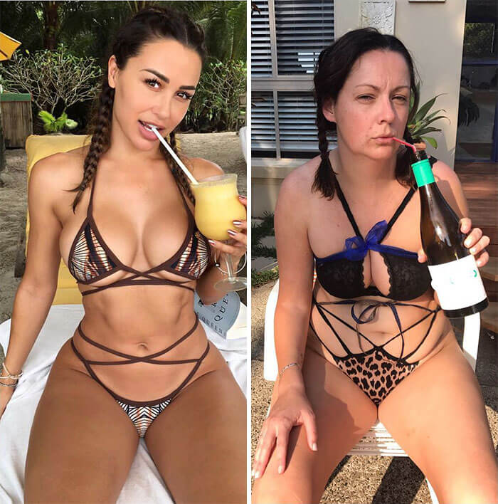Woman Recreates Celebrity Instagram Pictures, And It's Hilarious
