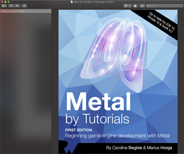 Metal By Tutorials Ray Wenderlich Update for IOS 12 Xcode 10 and Swift 4.2