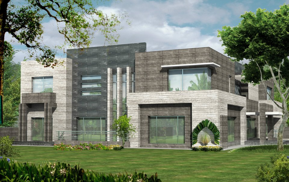 3D Front Elevation.com: Valancia Modern Contemporary House Design ...