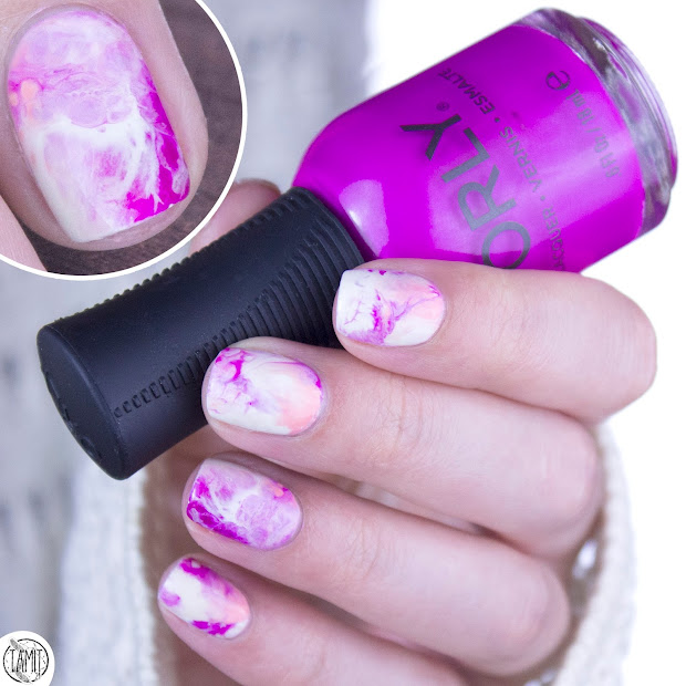 fall in .nailove pastel marble