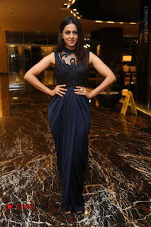 Actress Rakul Preet Singh Stills in Beautiful Blue Long Dress at Dhruva Salute to Audience Event  0120.JPG