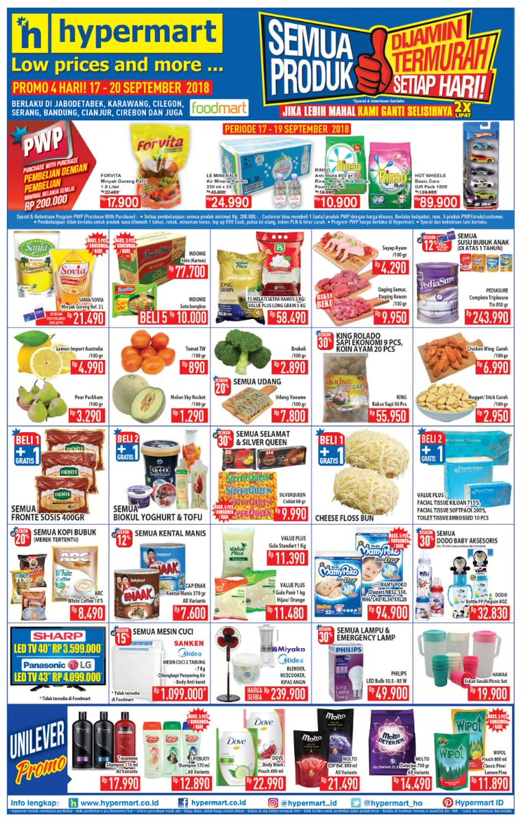 Hypermart - Katalog Promo Low Price and More Periode 17 - 20 Sept 2018