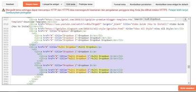Menambahkan link di menu navigasi blog