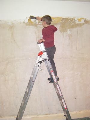 bare plaster walls after removing wallpaper home redecoration