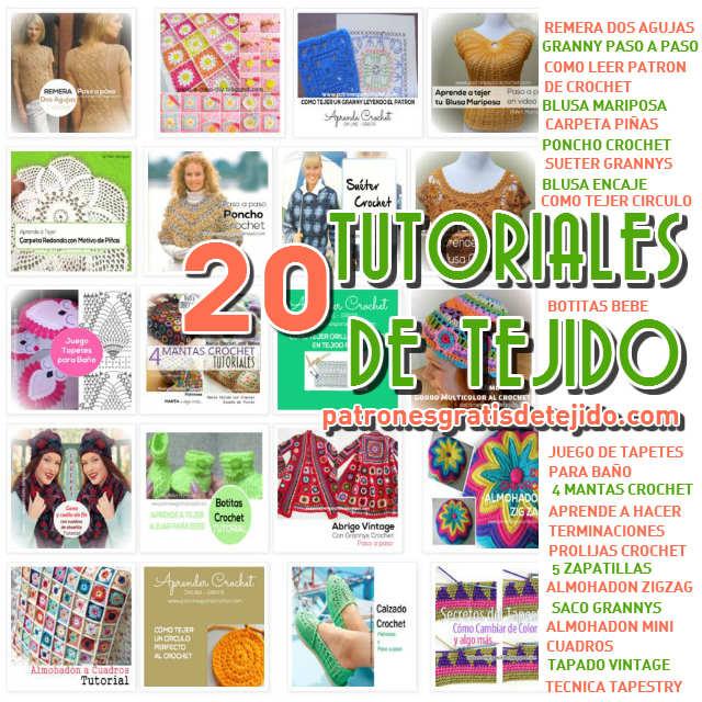 20 tutoriales de tejido