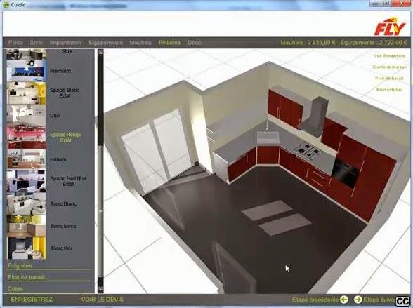 conseils et astuces du web concevoir sa cuisine gratuitement gr ce aux outils 3d des grandes. Black Bedroom Furniture Sets. Home Design Ideas