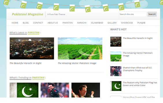 Pakistani mag blogger template