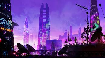 Cyberpunk, City, Minimalist, Digital Art, 4K, #6.1048