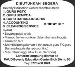 Lowongan Kerja Beverly Education Centre